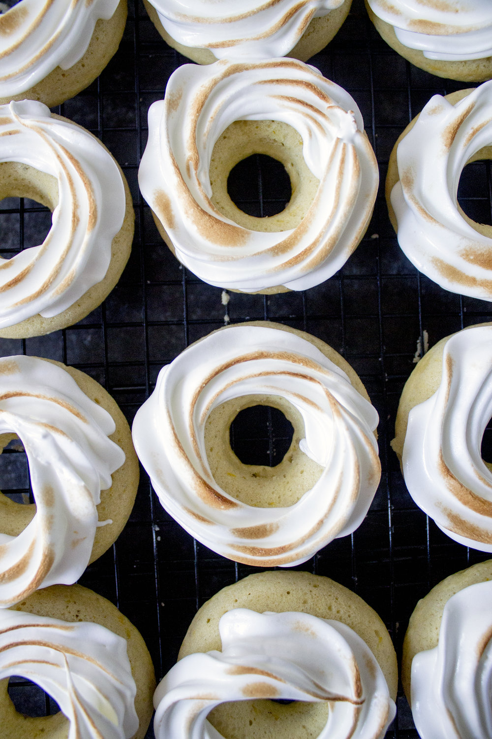Lemon Meringue Donuts via Unusually Lovely