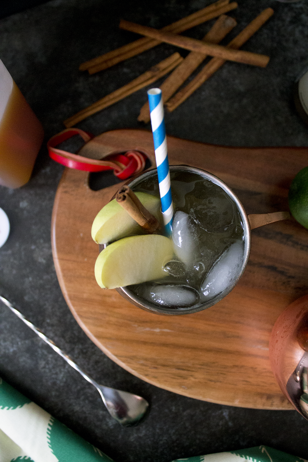 A fall twist on a Moscow Mule: the Apple Cider Moscow Mule.