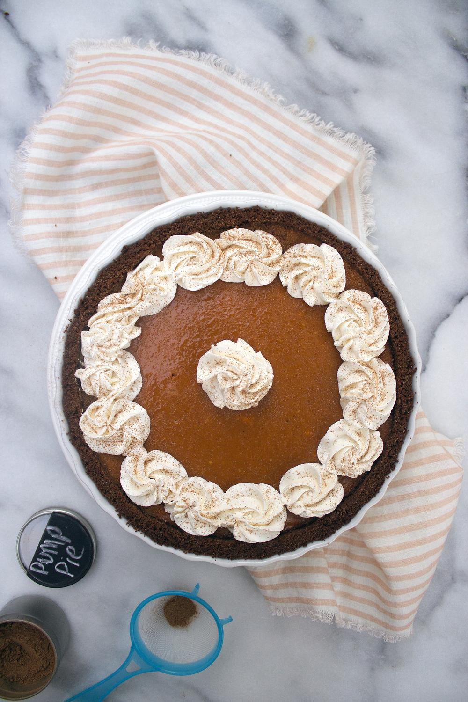 Pumpkin Pie Tart via Unusually Lovely