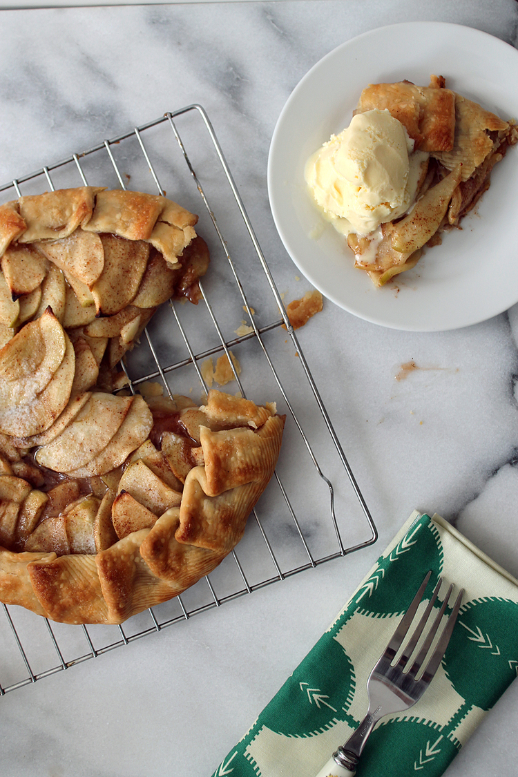 Apple Galette via Unusually Lovely
