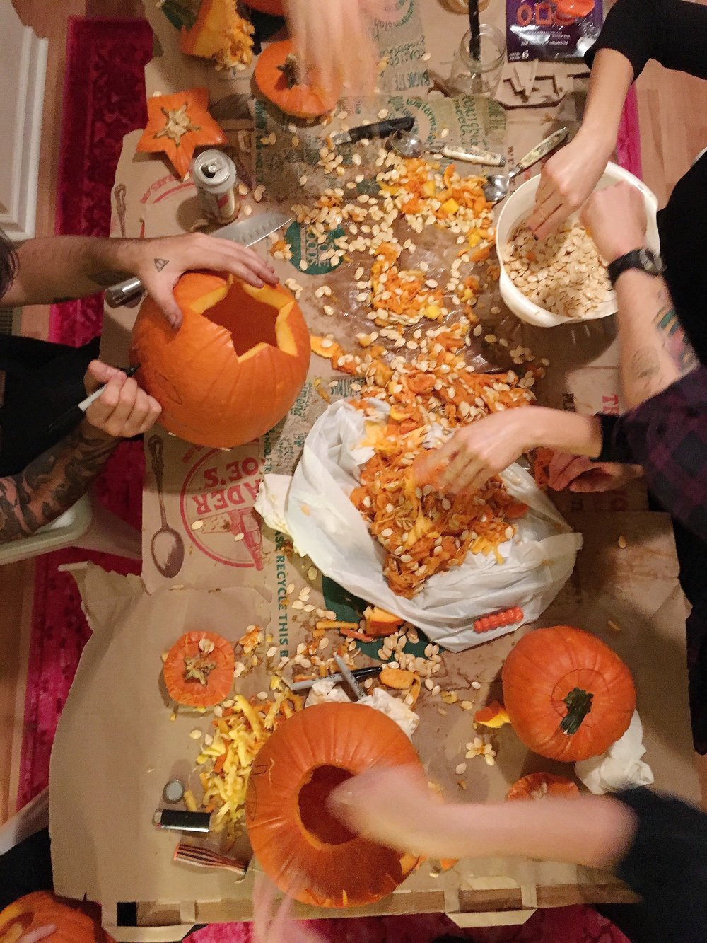 Pumpkin Carving Party via Unusually Lovely