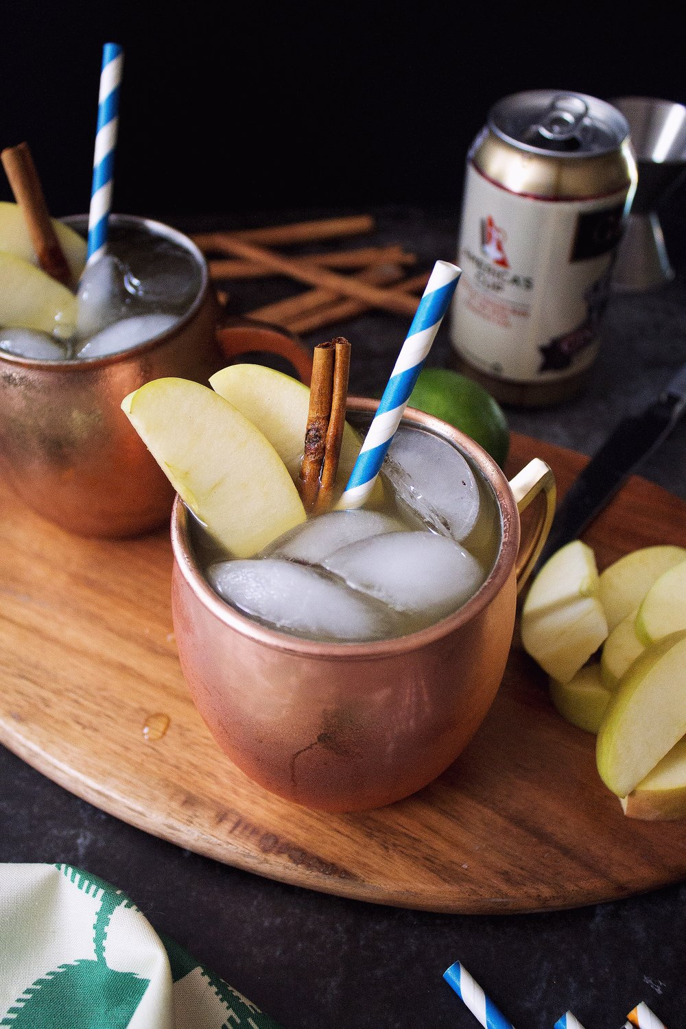 Apple Cider Moscow Mule via Unusually Lovely