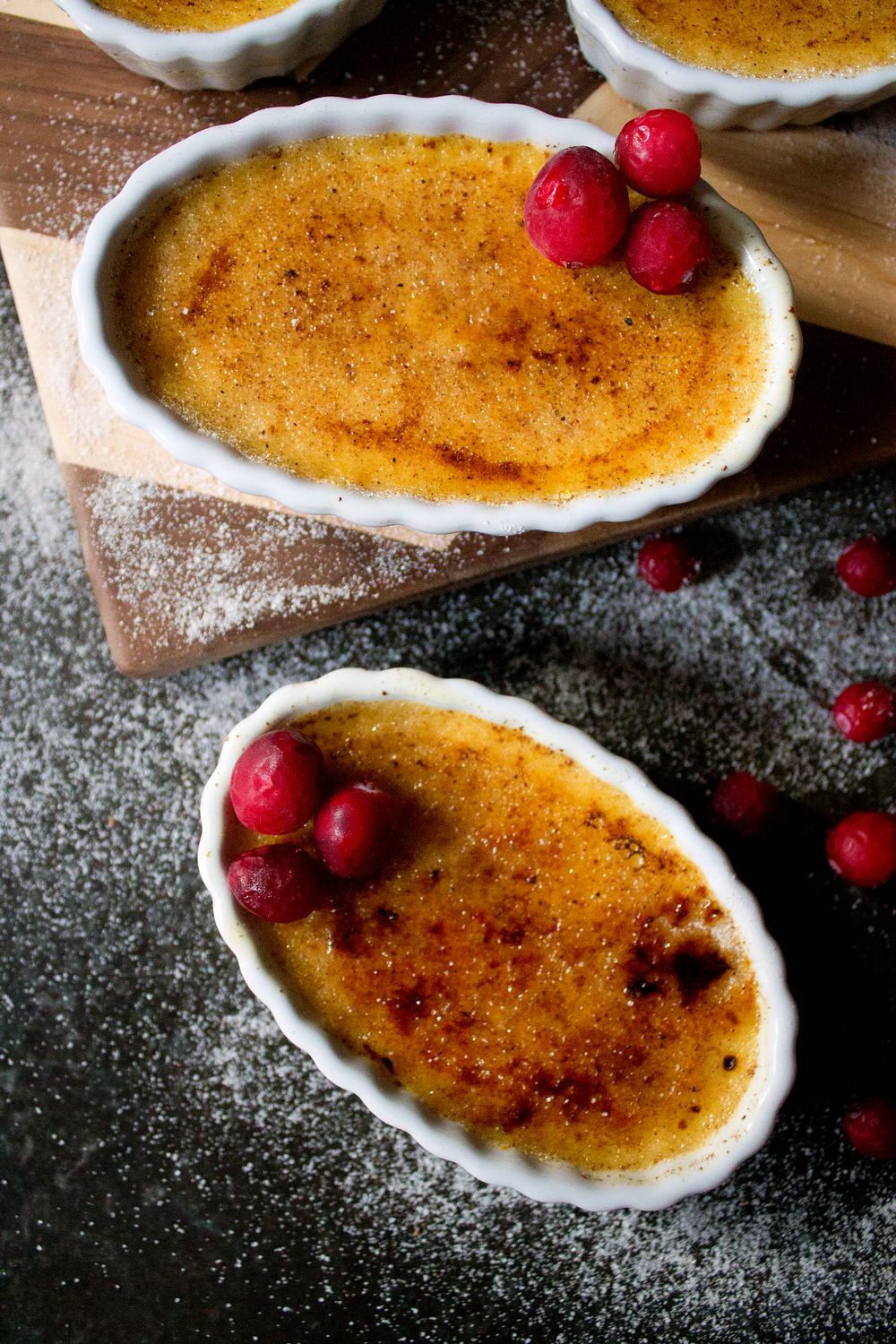 Eggnog Creme Brulee via Unusually Lovely