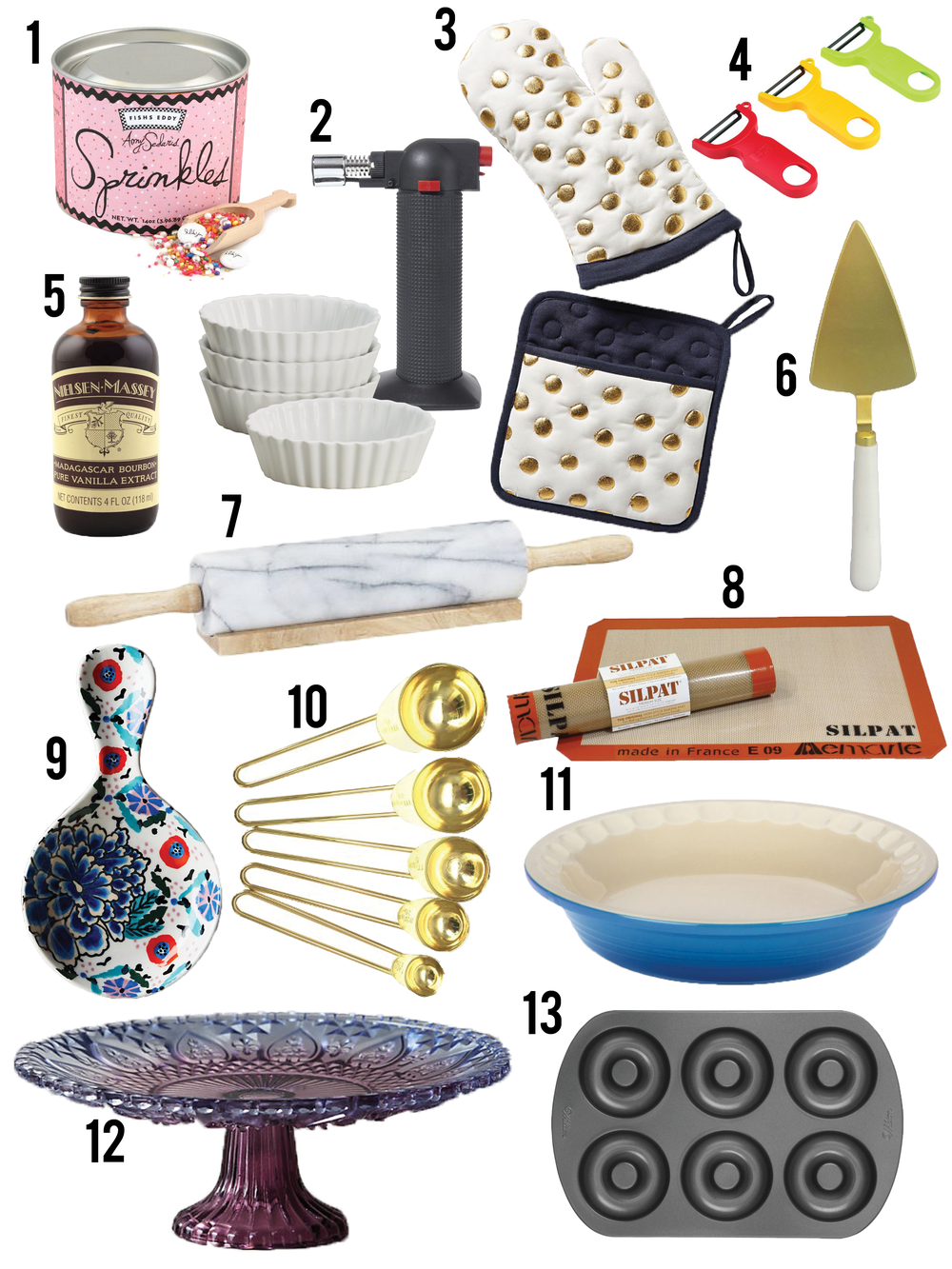 Baking Gift Guide via Unusually Lovely