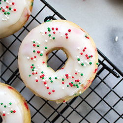 Christmas funfetti donuts