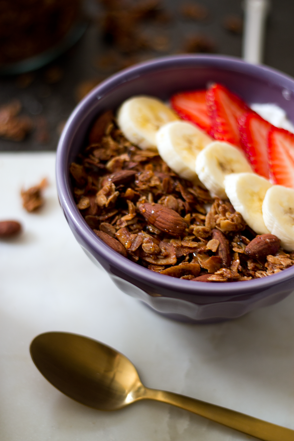 Cinnamon Almond and Coconut Granola from Unusually Lovely