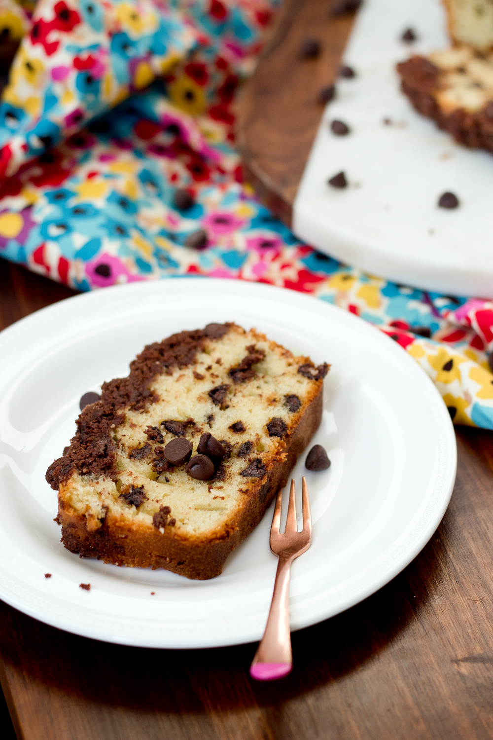 Chocolate Chip Loaf Cake from UnusuallyLovely.com
