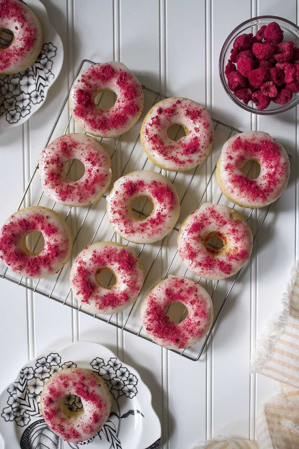 Lemon Donuts with a Raspberry Topping from UnusuallyLovely.com
