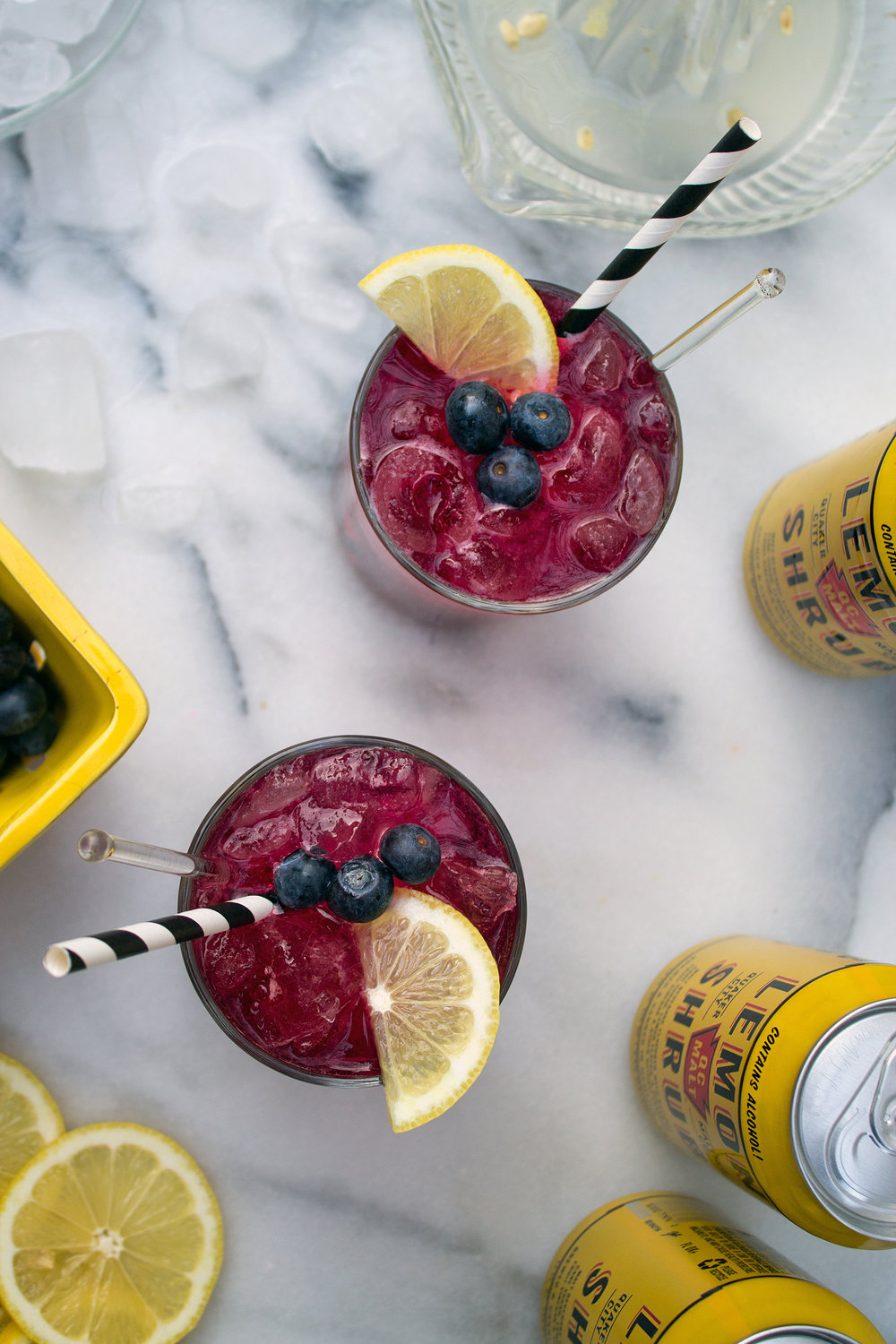 Boozy Blueberry Lemonade featuring QCMalt. Unusually Lovely Blog.
