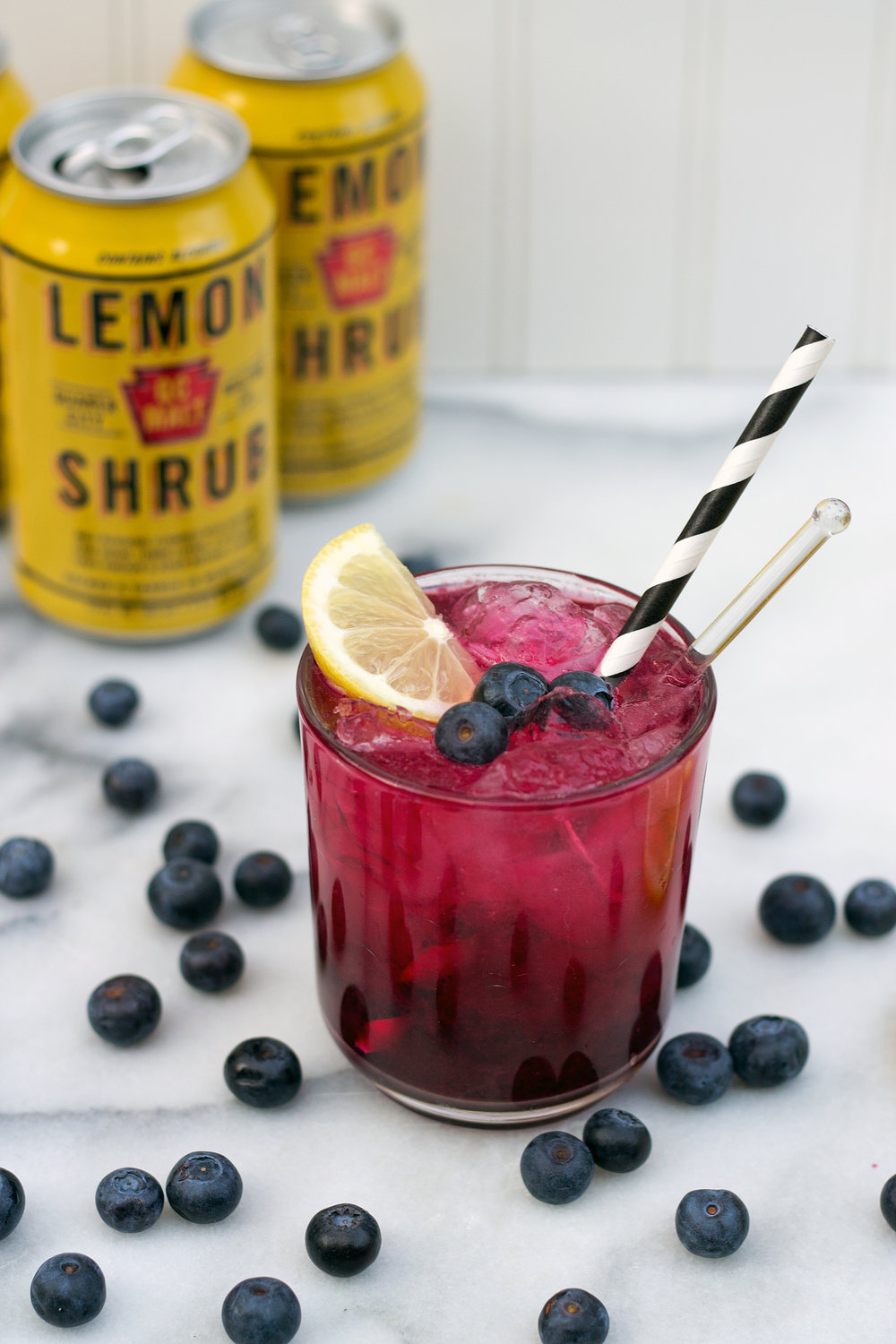 Boozy Blueberry Lemonade via Unusually Lovely