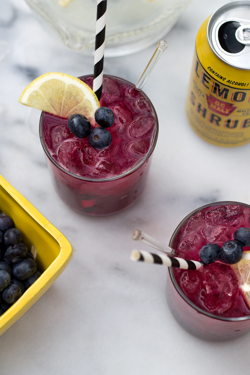 Boozy Lemonade with Blueberries from the Unusually Lovely blog.