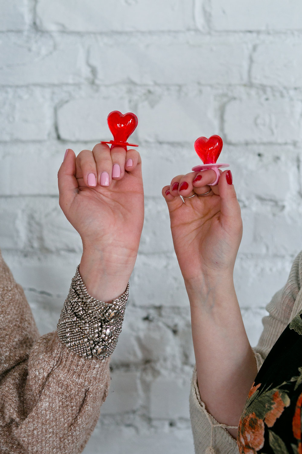 Heart Shaped Ring Pops from Galentine's Day Brunch