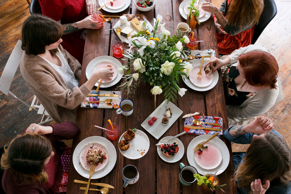 Galentine's Day Brunch from Unusually Lovely