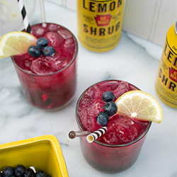 boozy blueberry lemonade with qc malt