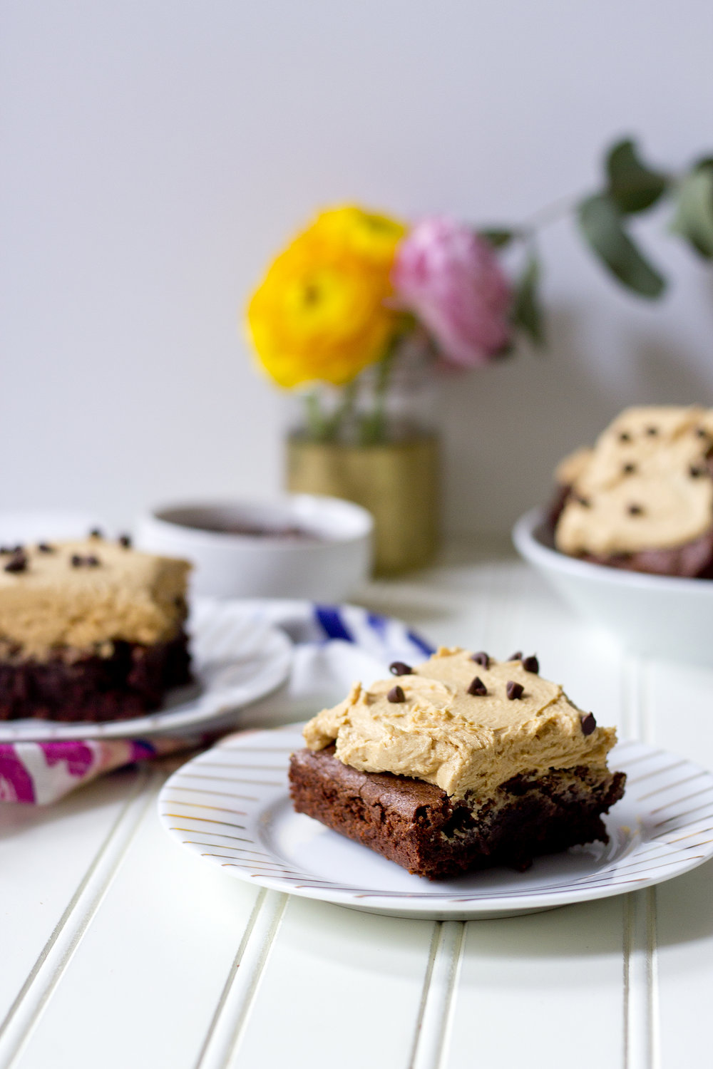 Recipe for Peanut Butter Frosted Brownies on the blog! Check out UnusuallyLovely.com