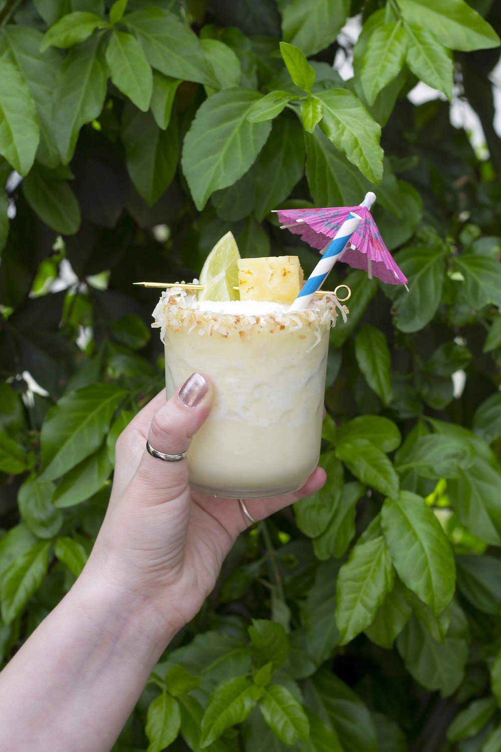 Frozen Coconut Pineapple Margaritas from Unusually Lovely Blog