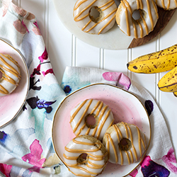 peanut butter banana donuts