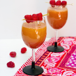 raspberry peach bellini
