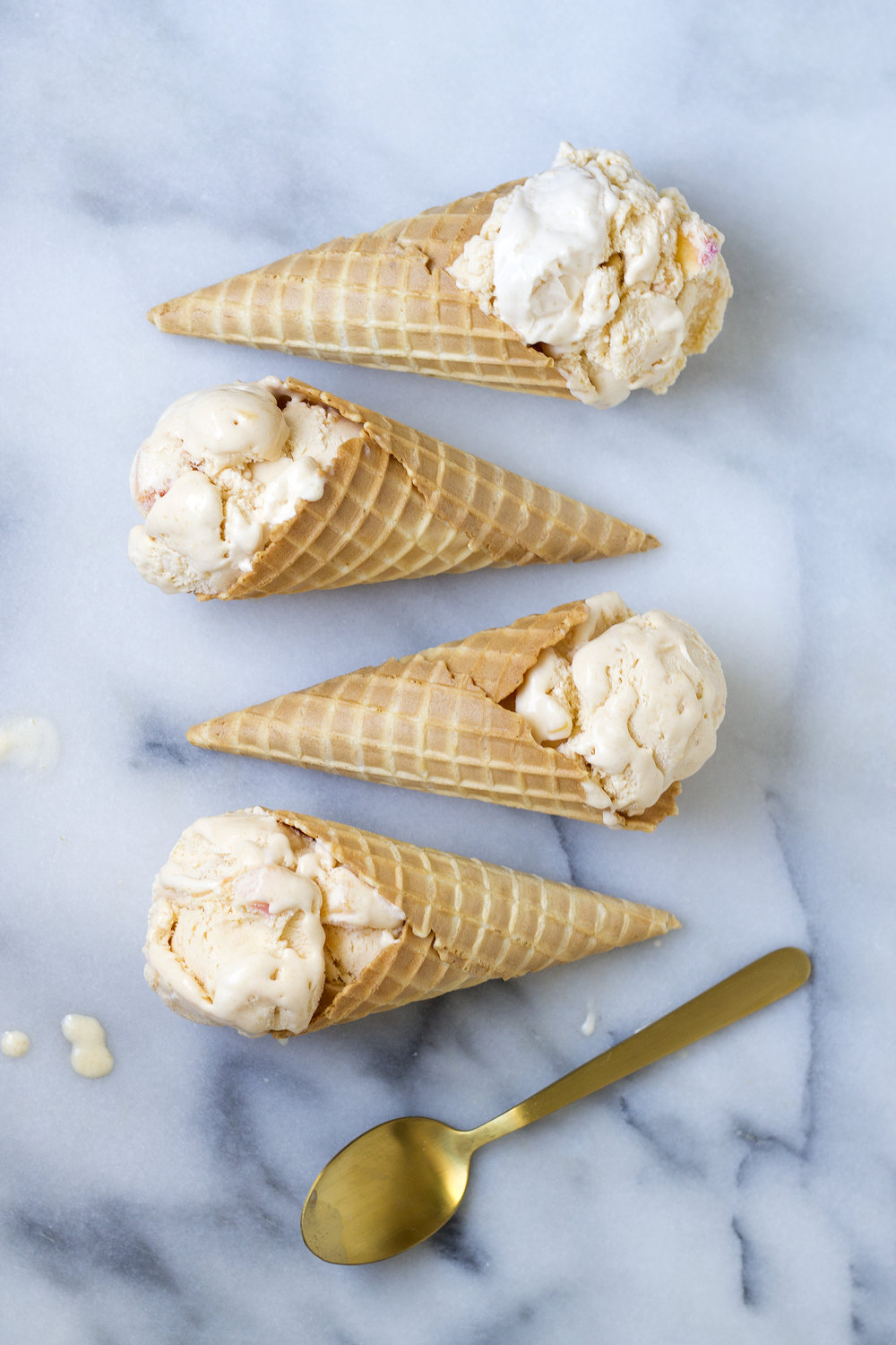 Peach Ice Cream via UnusuallyLovely.com