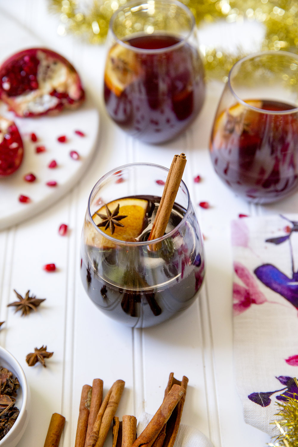 Perfect for holiday parties. Get the recipe for Mulled Wine. UnusuallyLovely.com