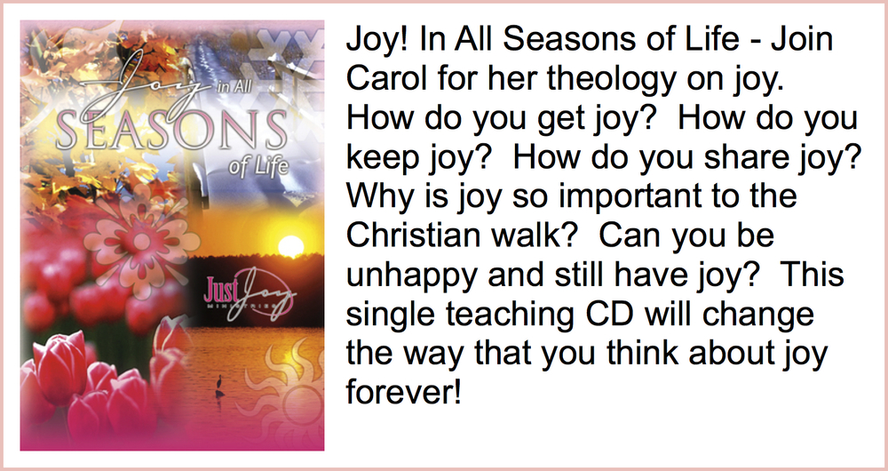 Joy In All Seasons of Life  Teaching CD Series - $5   Joy In All Seasons of Life  Teaching Download - $10
