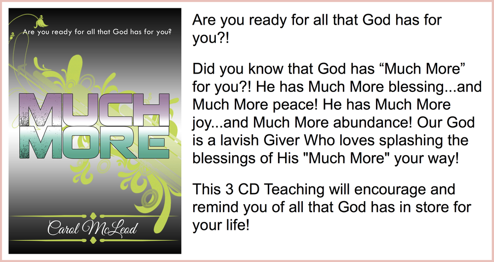 Much More3 CD Teaching Series - $15 Much MoreTeaching Download - $13