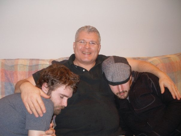 craig with sleeping sons