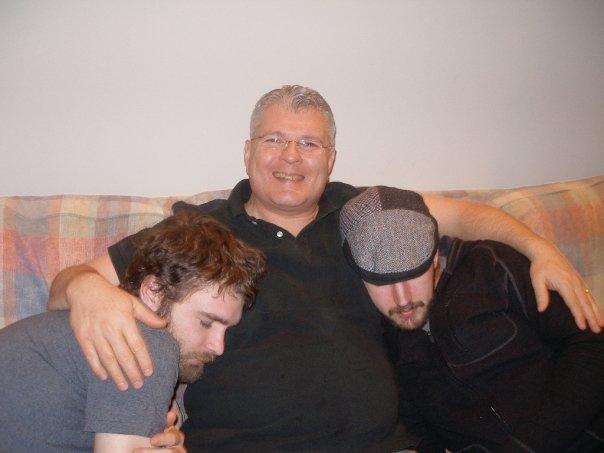 craig with sleeping sons
