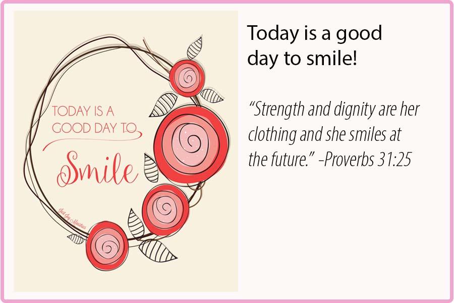 Good Day to Smile Print $15
