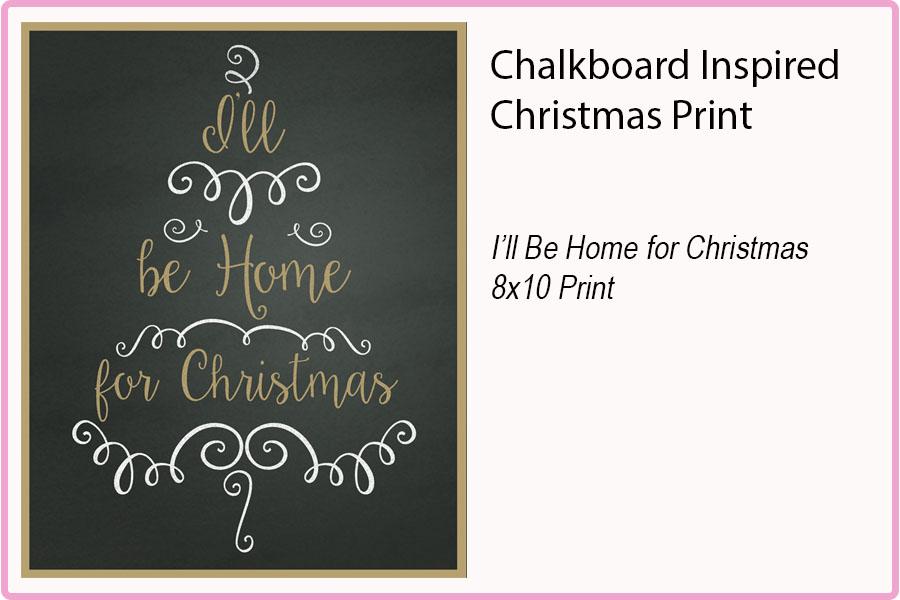 HOME FOR CHRISTMAS     8X10 Print $15