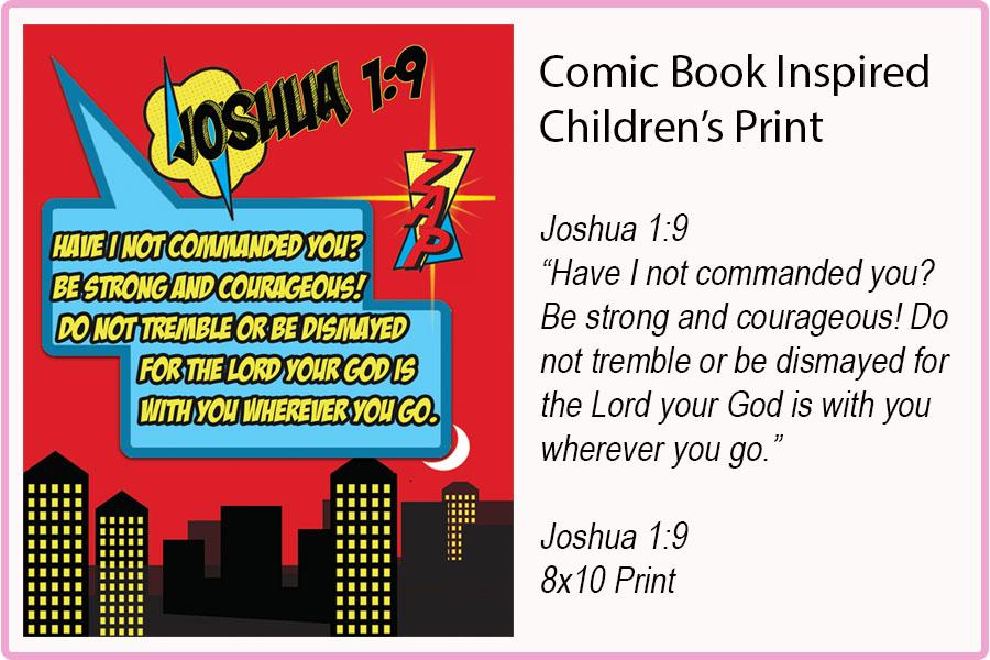 JOSHUA 1:9 {8x10} Print
