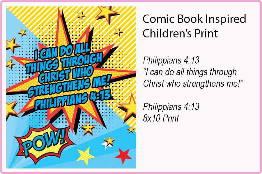 PHILIPPIANS 4:13 {8x10} Print