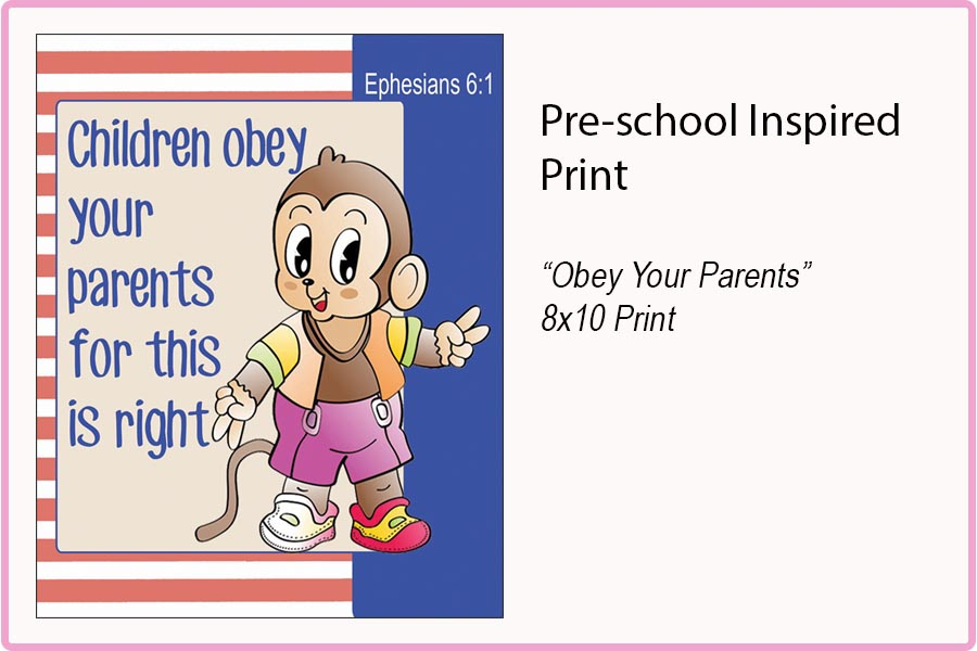 OBEY YOUR PARENTS 8x10 Print