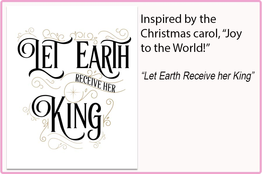 LET EARTH RECEIVE HER KING 8x10 Print $15