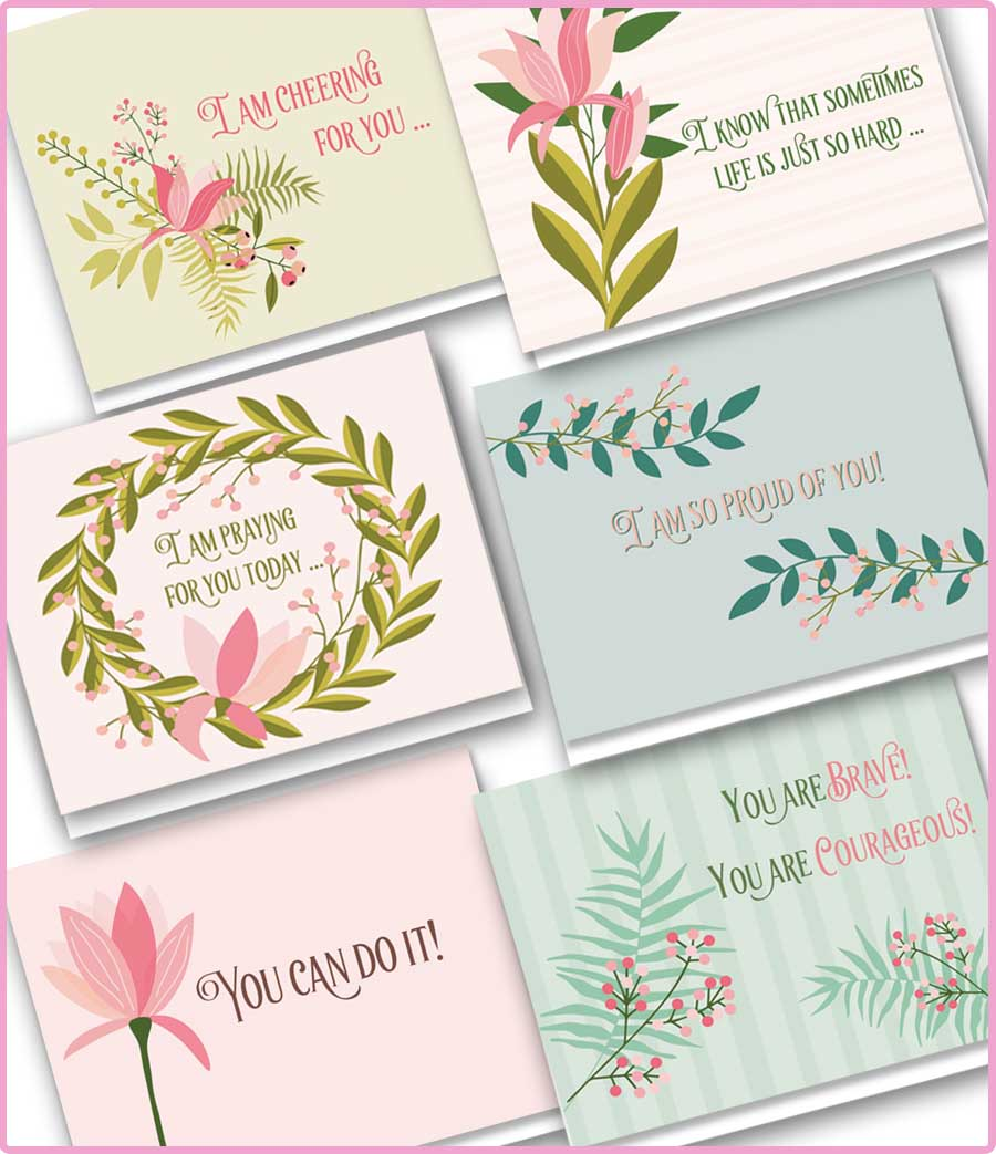 Set of 6 Notecards - $10 {Care Cards}