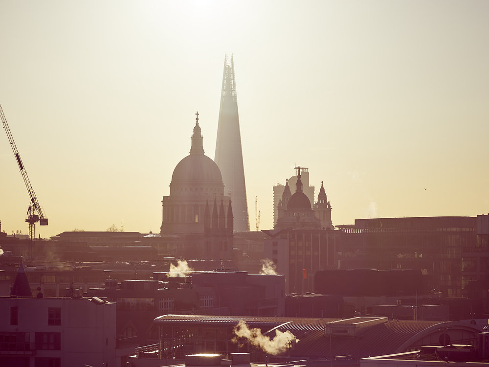 shard st paul's london sunrise