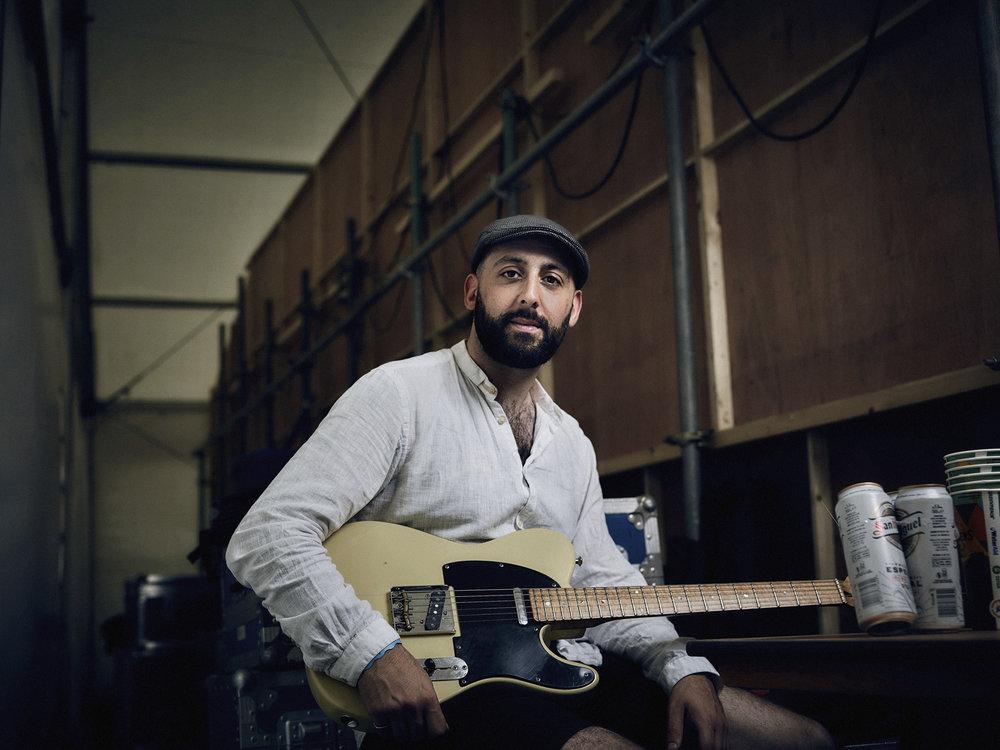 Joe - band leader of Freddie & The Freeloaders: entertaining the Glastonbury crowd for 8 years.