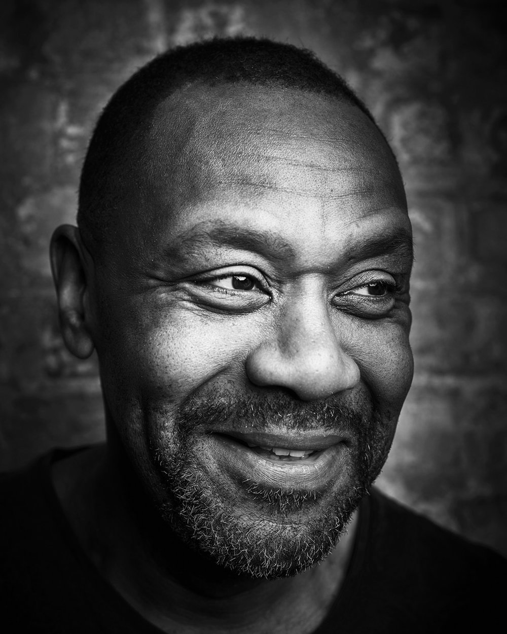 Lenny Henry candid portrait photographer london