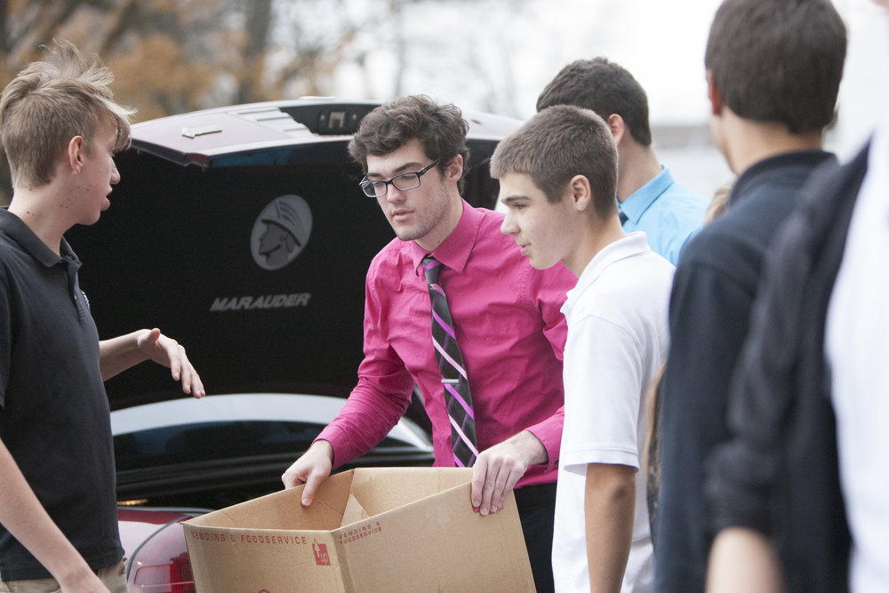 Students volunteer for the Annual Clothing Drive