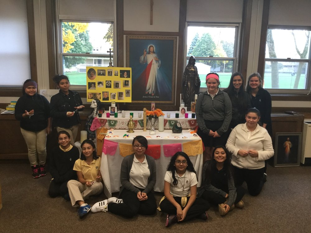Photo from our Dia de Los Muertos (Day of the Dead) prayer and celebration on All Souls Day, November 2nd.