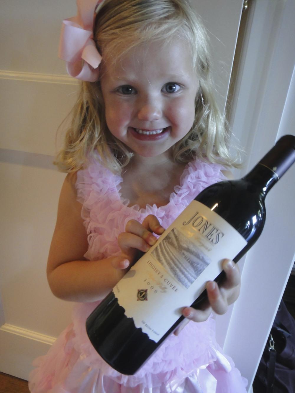 LJB and her wine
