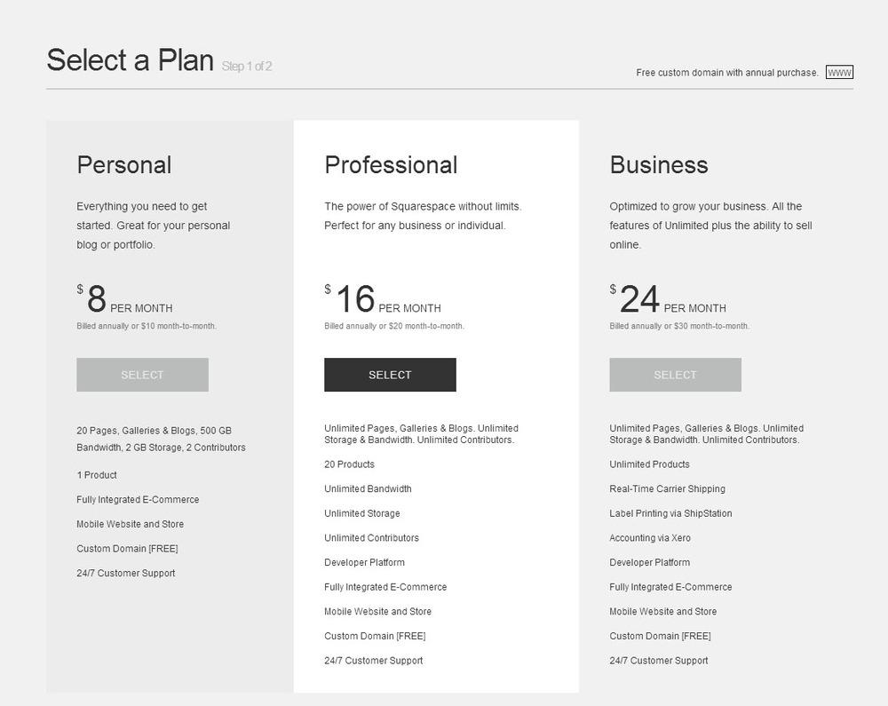 Select a Plan