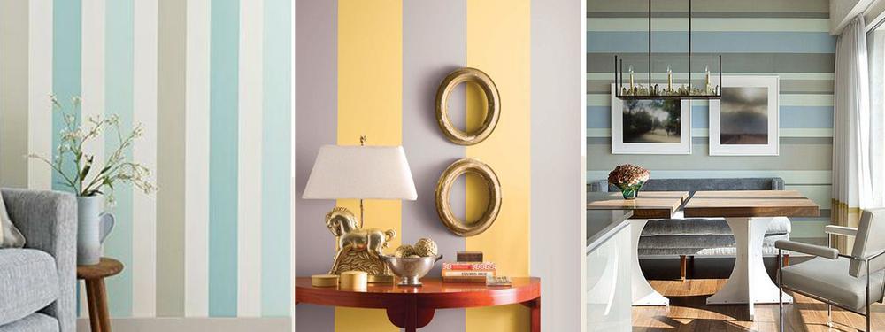 Стены в полоску - это один из самых традиционных приемов оформления стен, известный еще со времен стиля барокко, но от этого он не становится менее популярным и любимым многими дизайнерами. Полоски - это отличная возможность разнообразить ваш интерьер, сочетая интересные цвета и разнообразную геометрию.