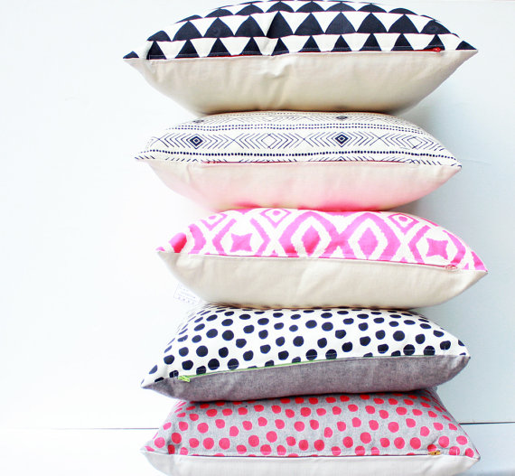 Hand Printed Pillows