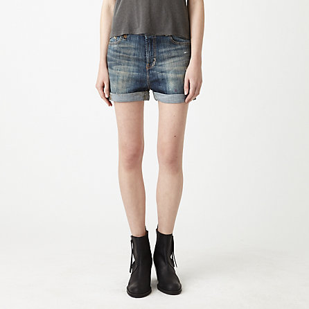 Slouch Cut Off Jean Shorts
