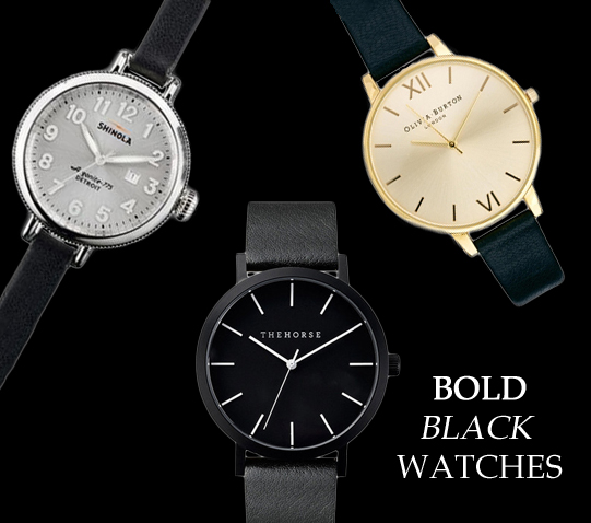bold black watches