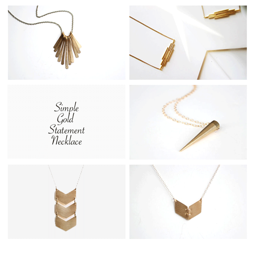 simple gold statement necklaces