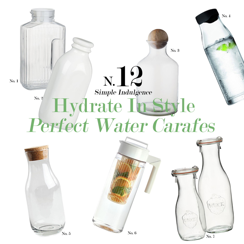 Beautiful Water Carafes