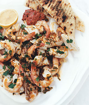 Mixed Seafood Grilled with Papriki-Lemon Dressing