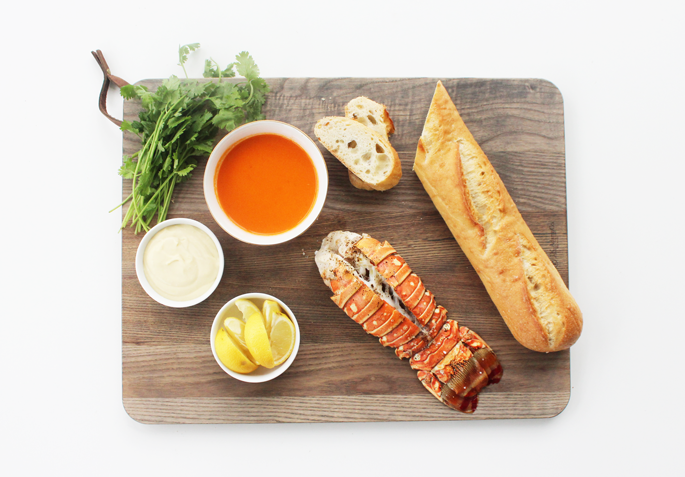 Lobster Crostini with Champagne Sauce